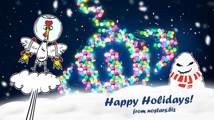 Nostars.biz поздравляет своих друзей с новогодними праздниками.