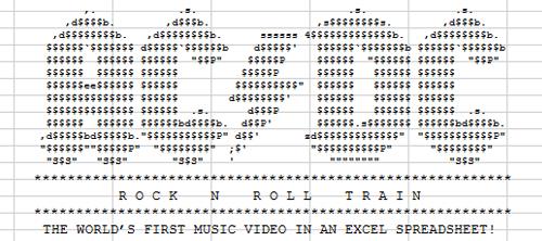AC/DC: Rock'n'Roll Train. Первое музыкальное видео в формате Excel.