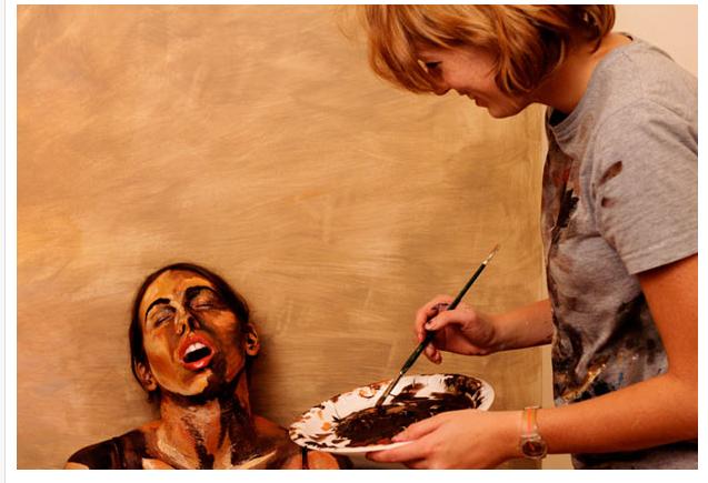 Живые картины Alexa Meade.