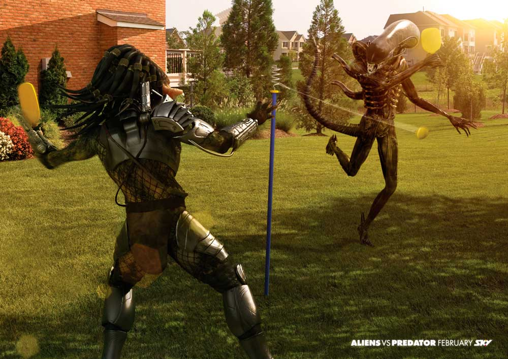 Aliens vs Predator: шахматы, биллиард, теннис.