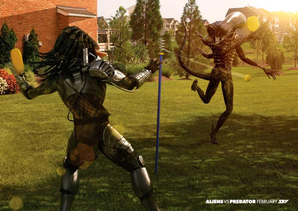 Aliens vs Predator: шахматы, биллиард, теннис.