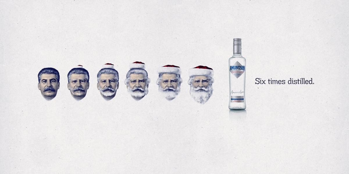 Amundsen Vodka: Гитлерокролик и Сталиноклаус.