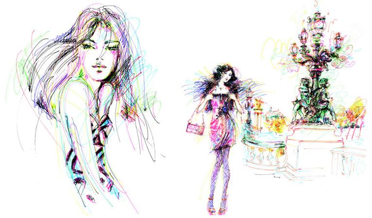Иллюстрации Antoinette Fleur (Антуанетта Флёр).