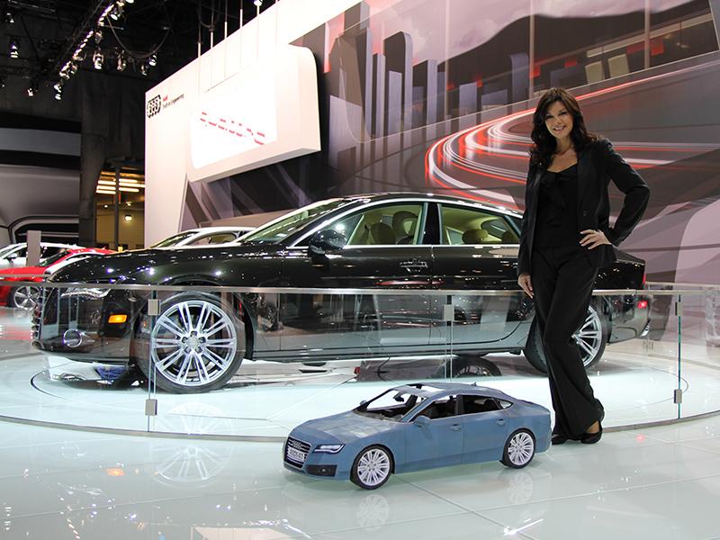 Audi A7 из бумаги.