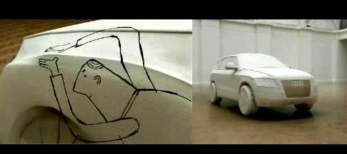 Audi Q5 из картонной коробки.