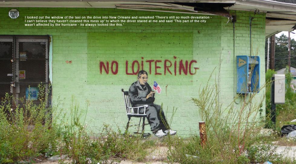 Banksy в Новом Орлеане.