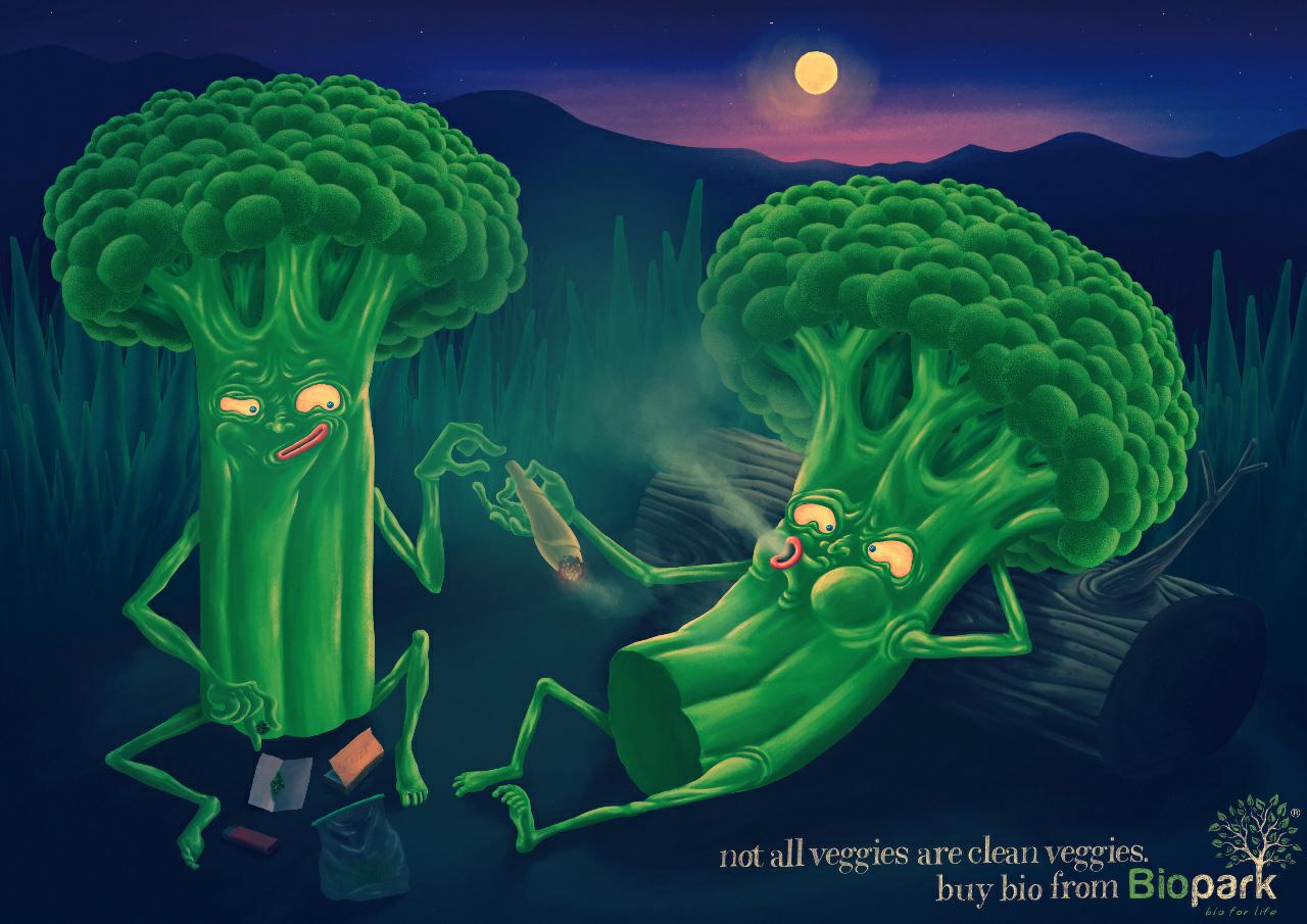 Помидоры-наркоманы в рекламе Biopark.