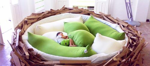 Уютное спальное гнёздышко.