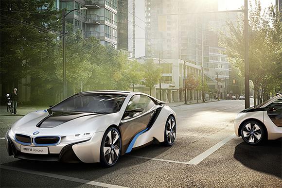 BMW концепты: i3 и i8.