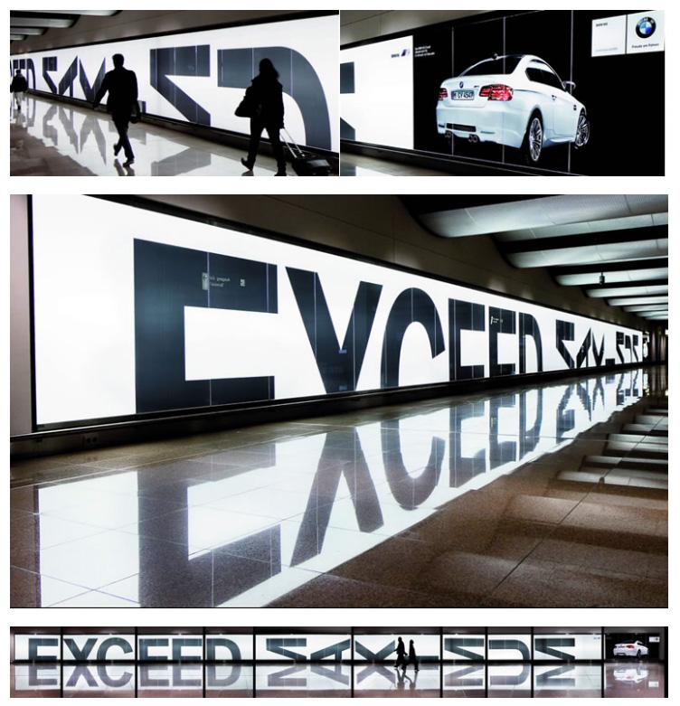 Зеркальный эффект для BMW.
