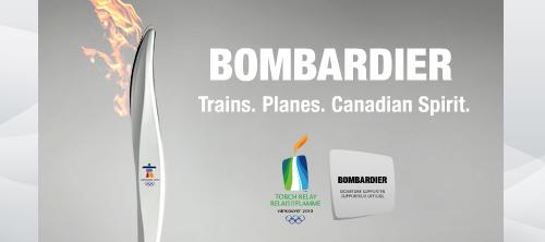 Bombardier: дизайн олимпийского факела.