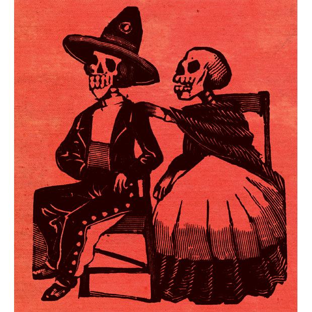 Calaveras: принты ко дню мертвецов.