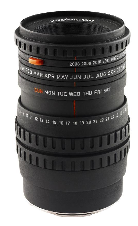 Первый в мире календарь в виде объектива. Camera Lens Calendar.
