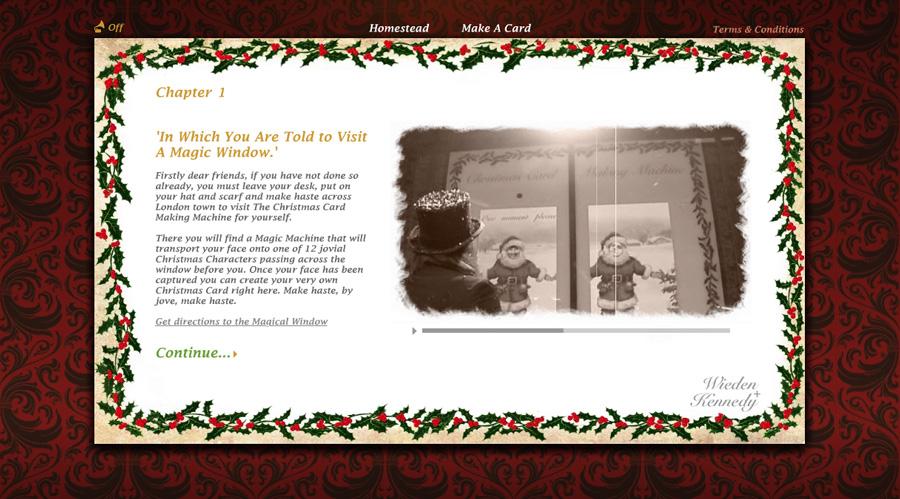 Christmas Card Machine. Wieden+Kennedy.