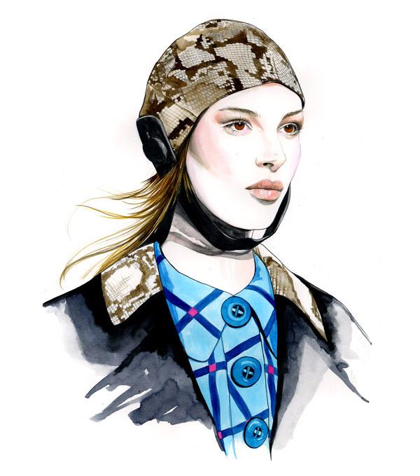 Модные скетчи Caroline Andrieu.