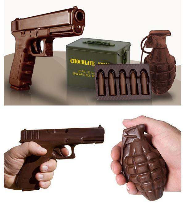 Chocolate Weapons: шоколадное оружие.