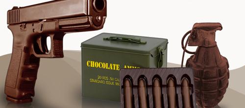 шоколадное оружие.