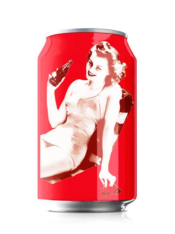 Дизайн юбилейных банок Coca Cola.