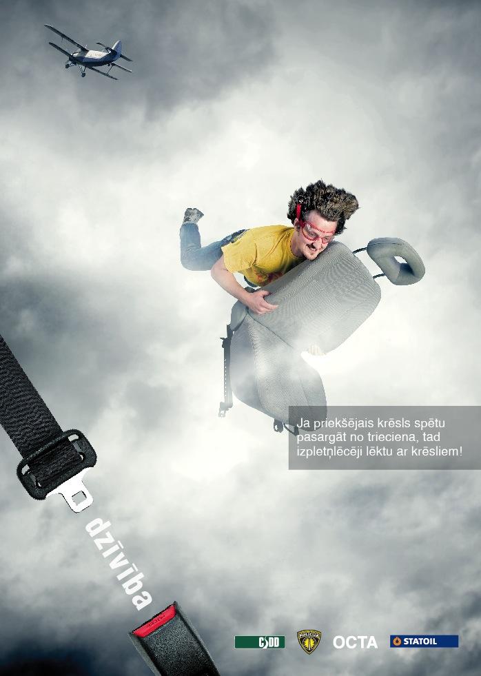 Социальная реклама латвийской дирекции по безопасности дорожного движения.