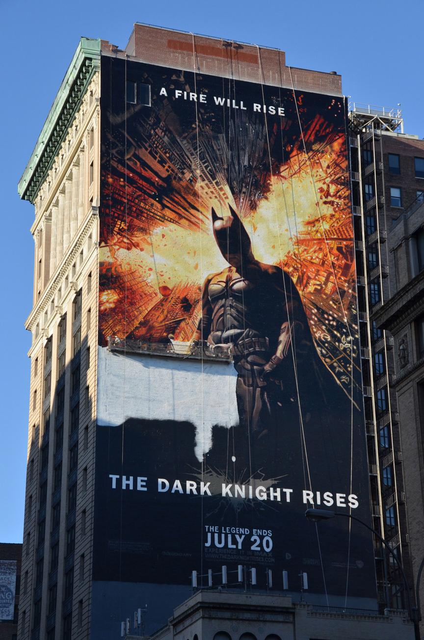 The Dark Knight Rises: рукотворный билборд в Нью-йорке.