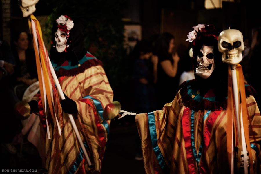 Dia de los muertos festival.