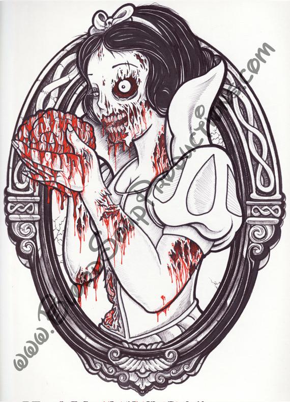 DeviN Hannon: диснеевские зомби-принцессы.