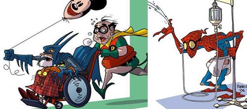 Donald Soffritti: супергерои в старости.