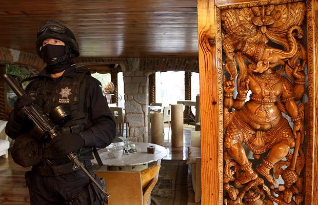 Дом наркобарона в Мексике.