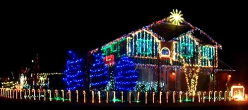 Рождественская иллюминация в стиле Dubstep.