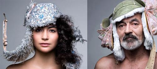 Креативные зимние шапки Emilie Zanon.