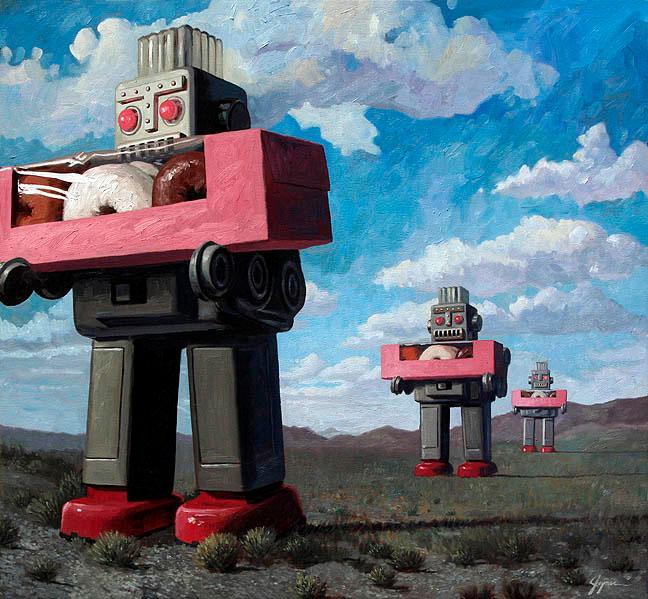 Eric Joyner: роботы и пончики.