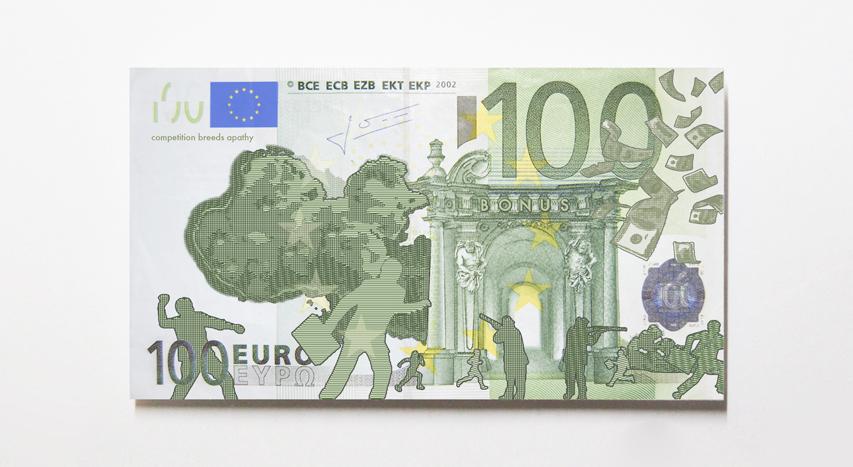 Новые банкноты евро от Michael Kluver.