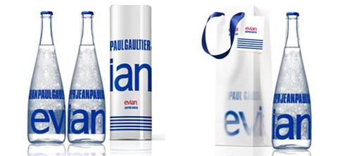 Бутылка Evian от Jean Paul Gaultier.