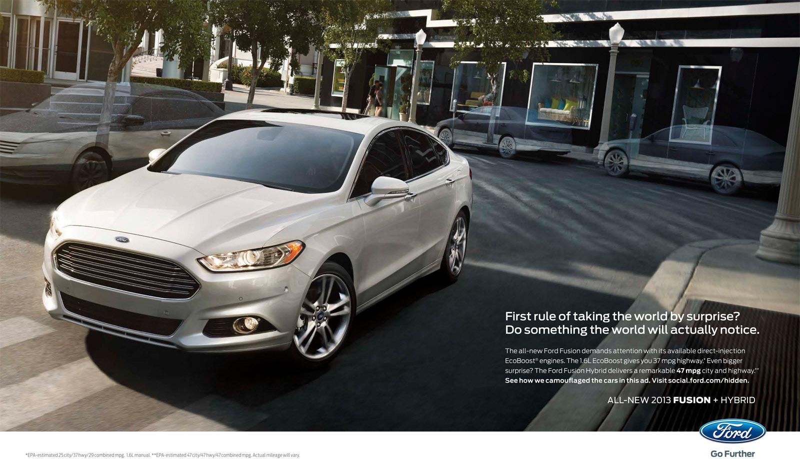 Оптические иллюзии для Ford Fusion.
