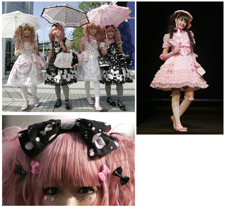 Gothic and Lolita Punk Fashion Show в Токио.