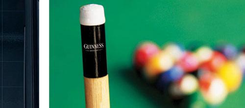 Guinness: биллиарда без пива не бывает.