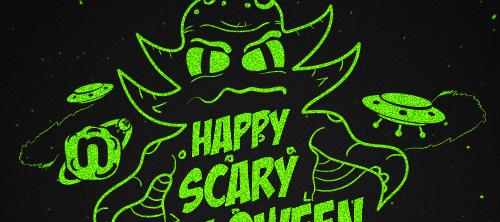 Halloween Invaders. Обои и открытки на Halloween.
