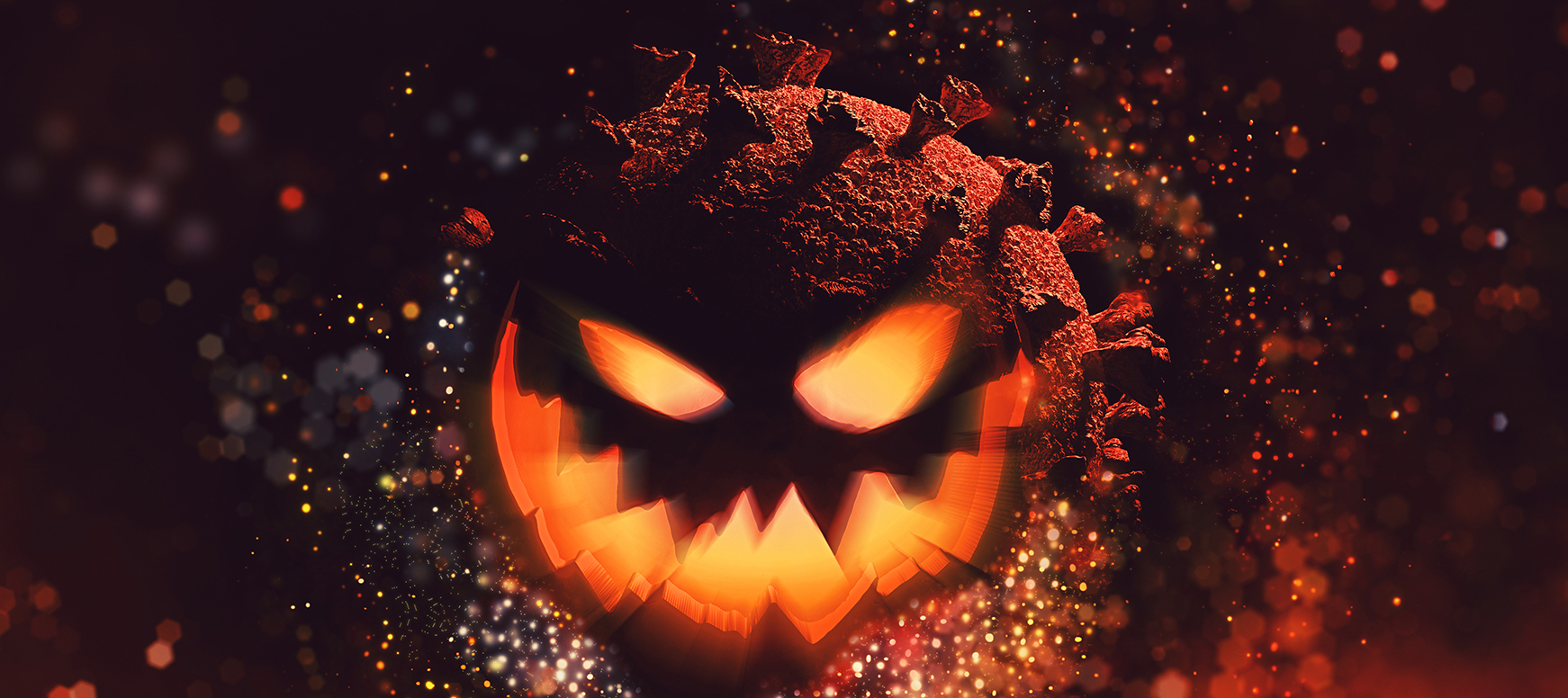 Happy Scary Halloween! Halloween cards and wallpapers.