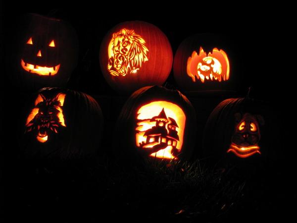 Искусство резьбы по тыквам. Pumpkin carving.