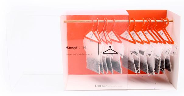 Чайные пакетики на вешалках: концепт Soon Mo Kang.
