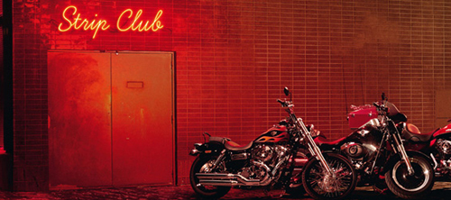 Harley-Davidson: Strip club.
