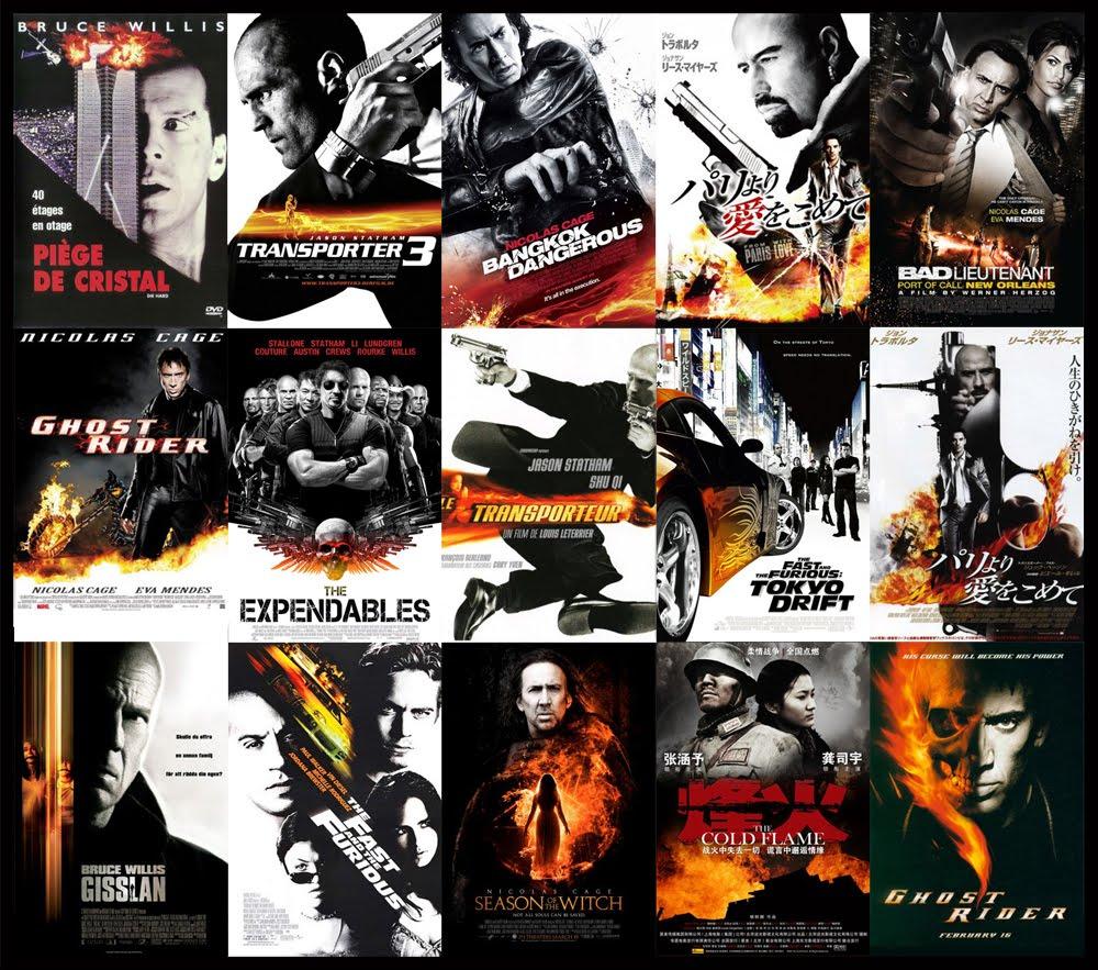 Однообразие постеров Голливуда.