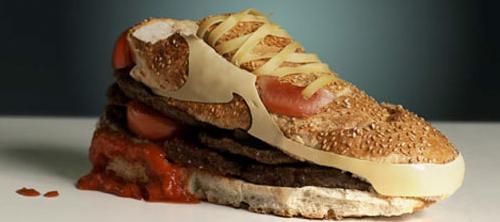 Nike Air Max в виде бургера.