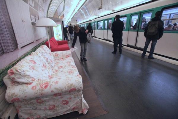Ikea спустилась в парижское метро.