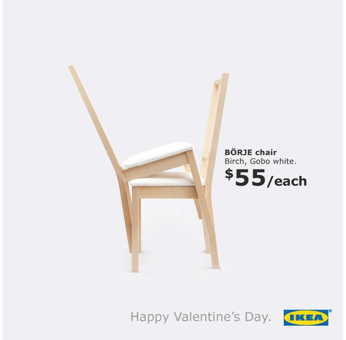 Ikea: день святого Валентина.