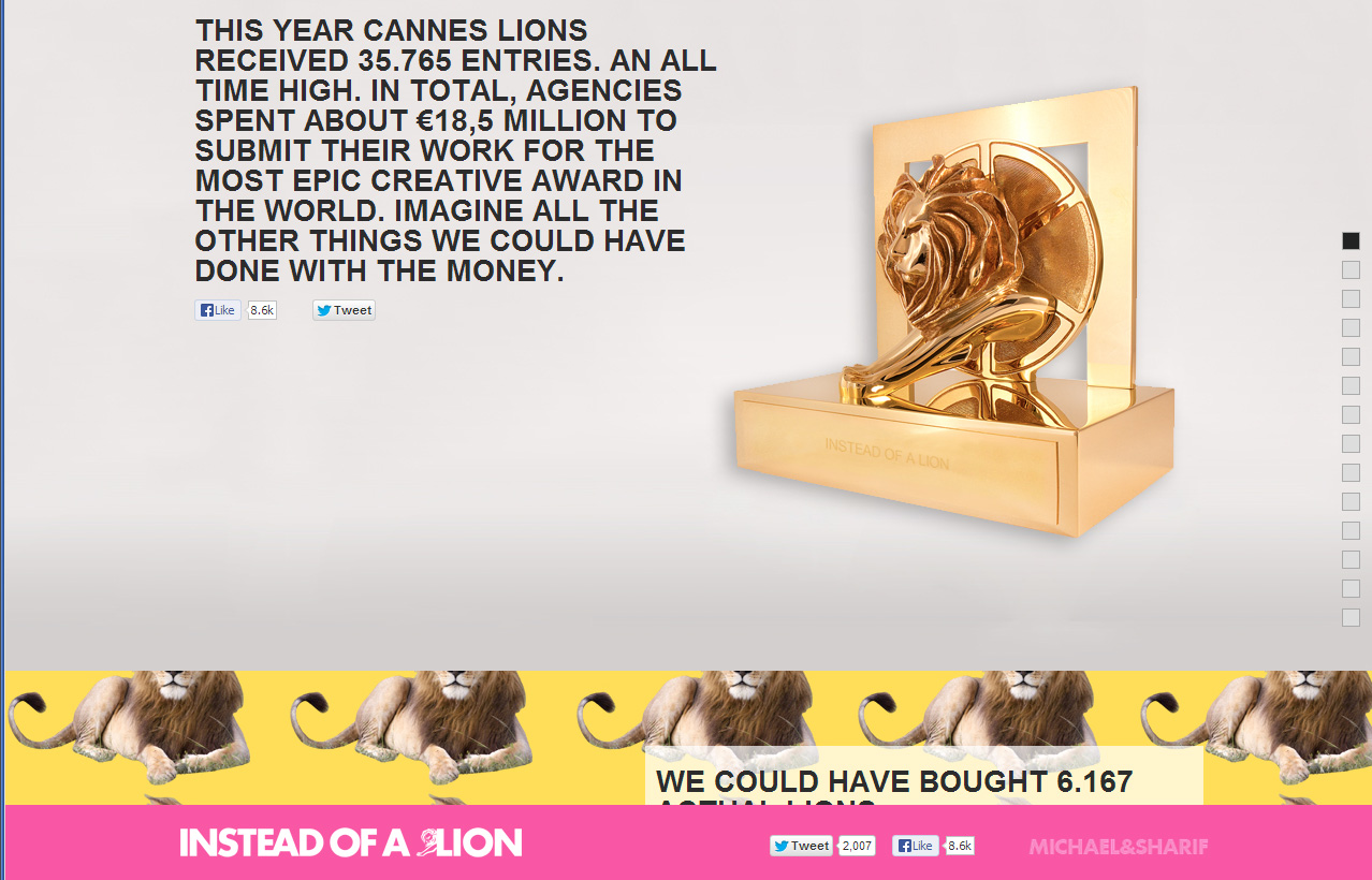Вместо львов.
