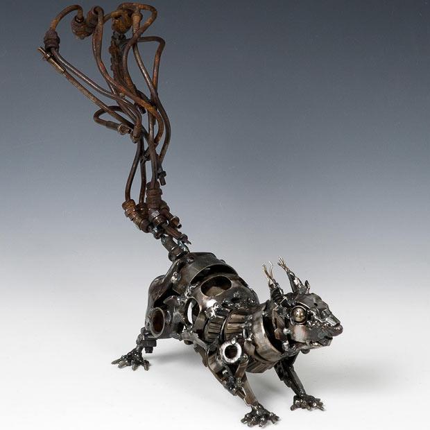 Скульптуры из автомобильного хлама от James Corbett.