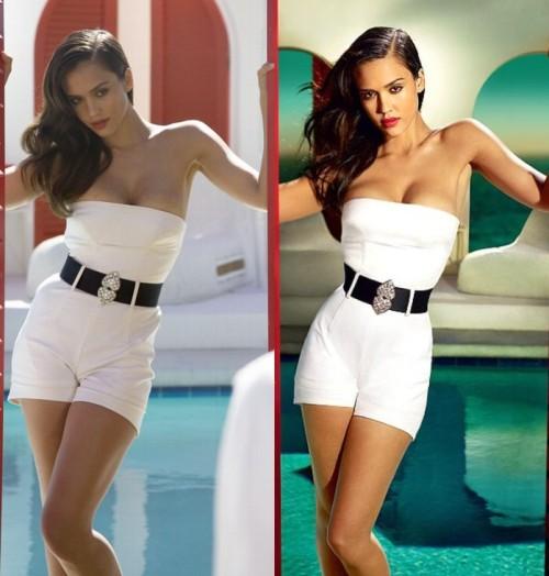 Jessica Alba до и после Photoshop.