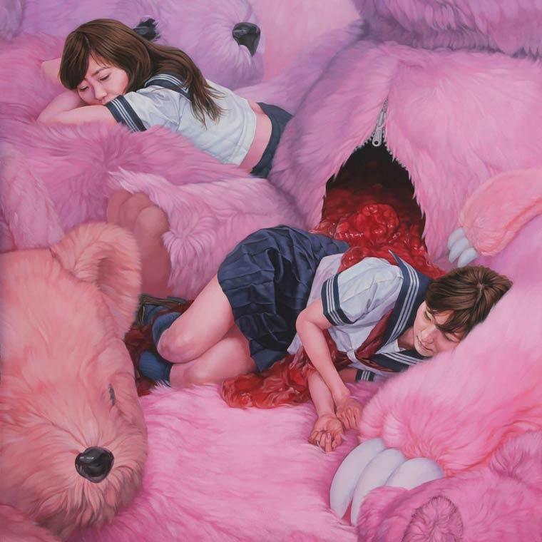 Kazuhiro Hori: мишки, девочки и варенье с кремом.