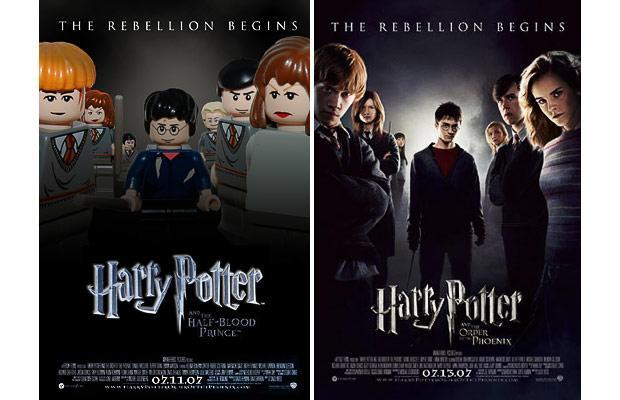 Lego постеры к фильмам.